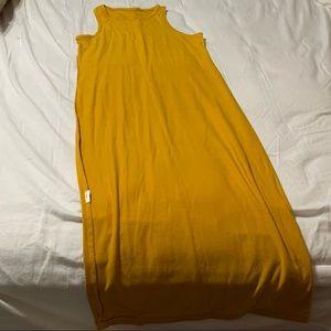 Yellow Long Tunic Dress Size Small